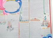 Bài báo tường của trường THCS Thị Trấn