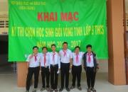 Đội thi chọn học sinh giỏi vòng tỉnh 2016-2017 của trường THCS Thị Trấn nói riêng và của Huyện Vĩnh Thuận nói chung