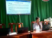 Trường THCS Thị Trấn tổ chức tập huấn chuyên môn tại trường.