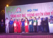 Cô Trần Thị Chế Linh xuất sắc đoạt giải nhì (đơn ca nhạc) trong Hội thi Tiếng hát quê hương huyện Vĩnh Thuận Năm 2018