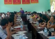 Trường THCS Thị Trấn họp HĐSP thường kì tháng 01/2019.