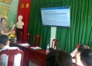 Trường THCS Thị Trấn tổ chức họp HĐSP sớm.