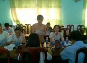 Chi bộ Trường THCS Thị Trấn tổ chức họp chi bộ thường kì tháng 4/2019