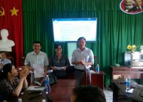 Chi bộ Trường THCS Thị Trấn họp thường kì tháng 5/2019.